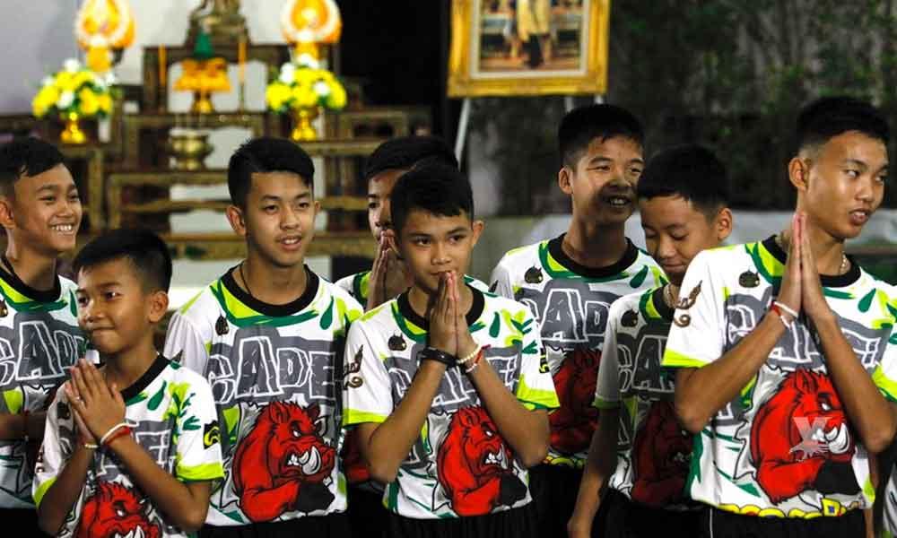 Futbolistas rescatados en Tailandia se convertirán en monjes