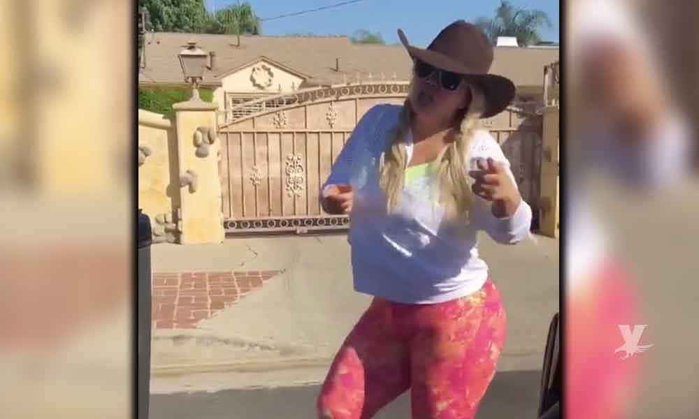 (VIDEO) Chiquis Rivera se suma al peligroso reto y realiza #LaChonaChallenge
