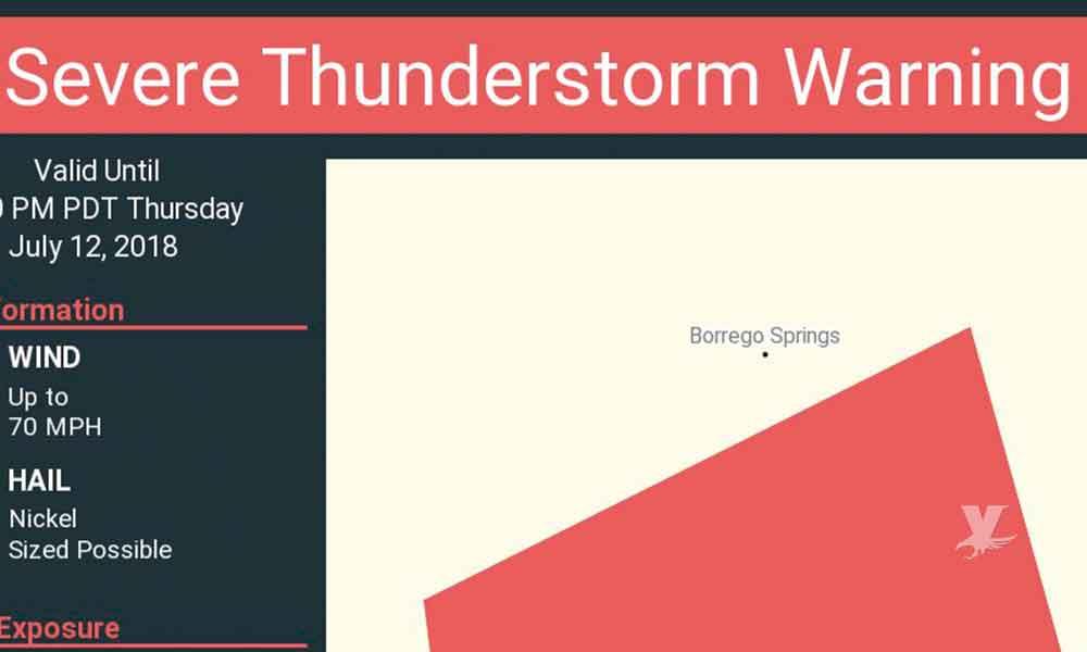 Alertan por severa tormenta a San Diego
