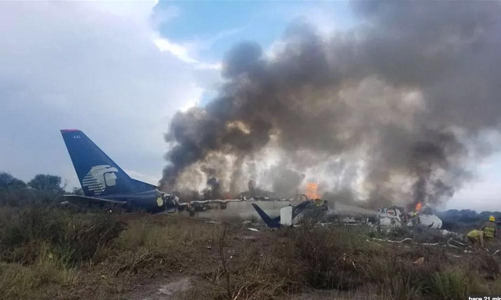 Se desploma avión de Aeroméxico en Durango (VIDEO)