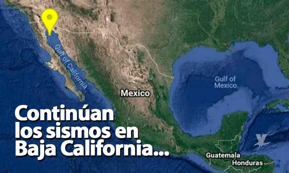 12 sismos en menos de 2 horas se registraron en San Felipe durante la noche