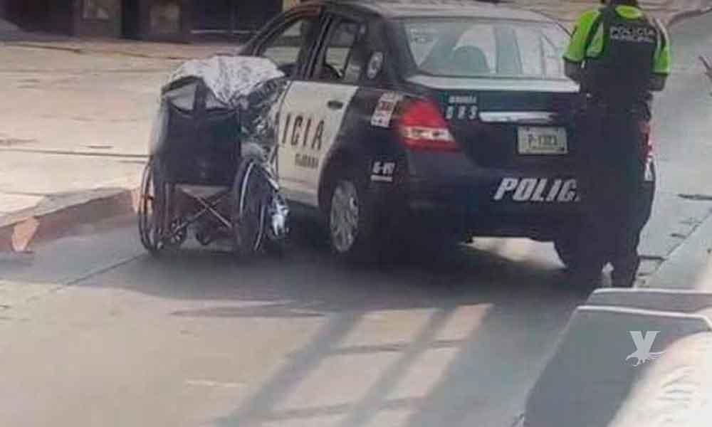Abandonan cuerpo en silla de ruedas en puente de El Chaparral en Tijuana