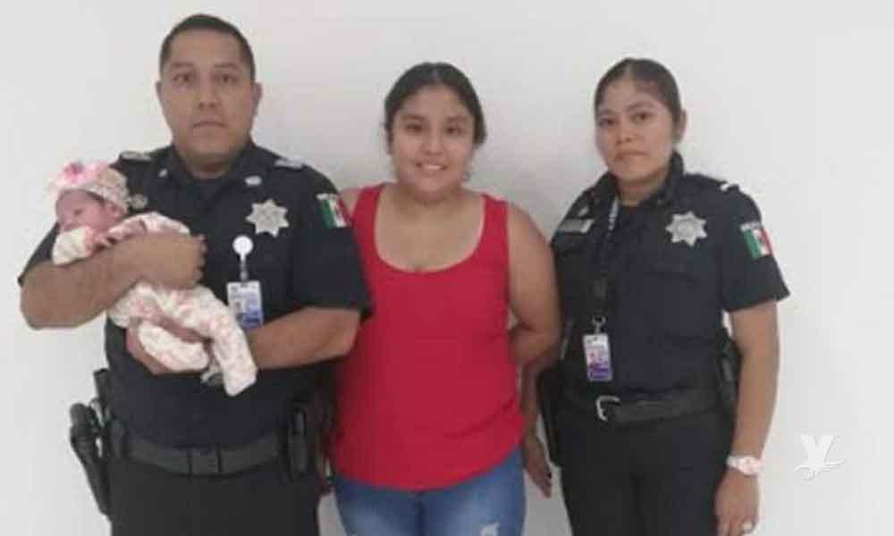 Suboficiales le salvan la vida a una bebé que se asfixiaba en Aeropuerto de Tijuana