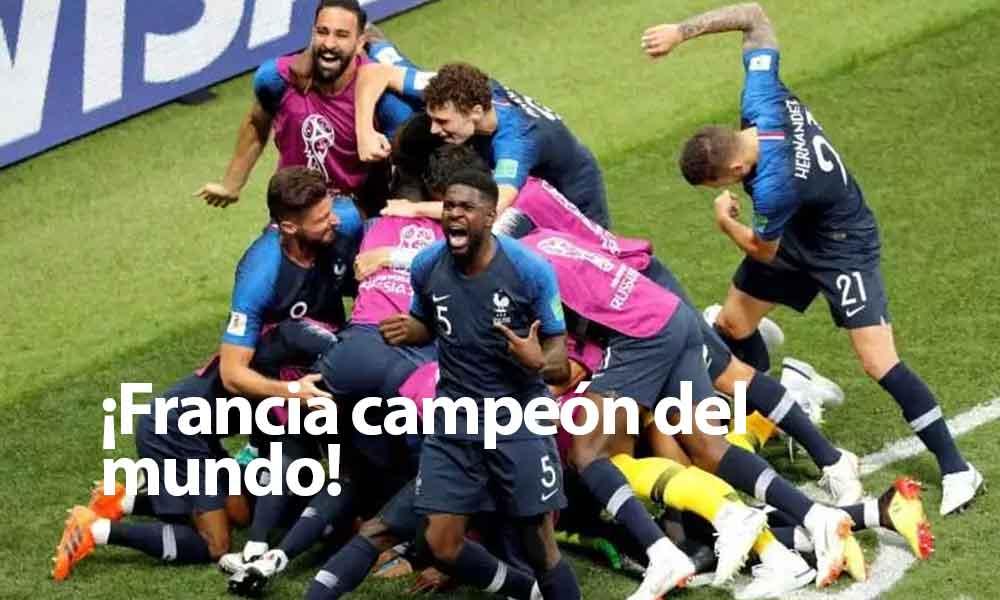 Francia se corona campeón del Mundial Rusia 2018