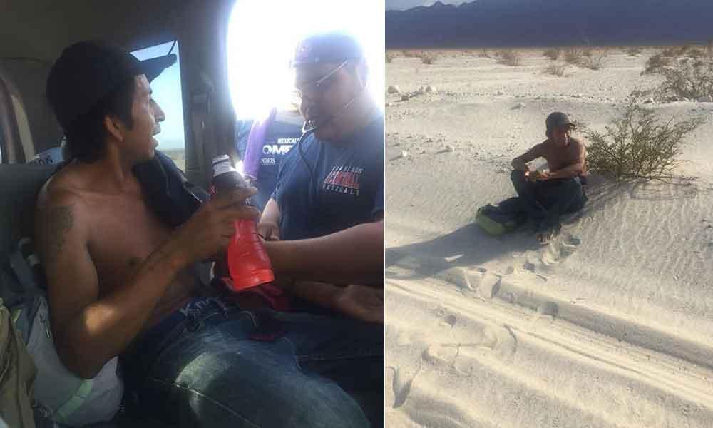 Rescatan a cuidador de rancho en La Salada; su patrón lo dejó abandonado