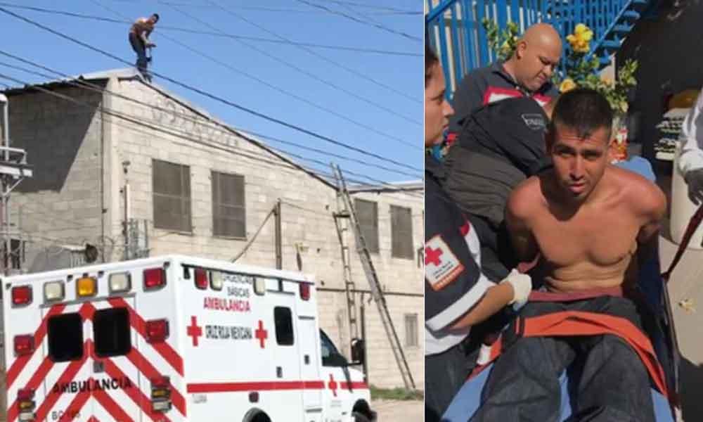 Tras cuatro horas de negociaciones, rescatan a hombre que amenazaba con suicidarse en Tijuana