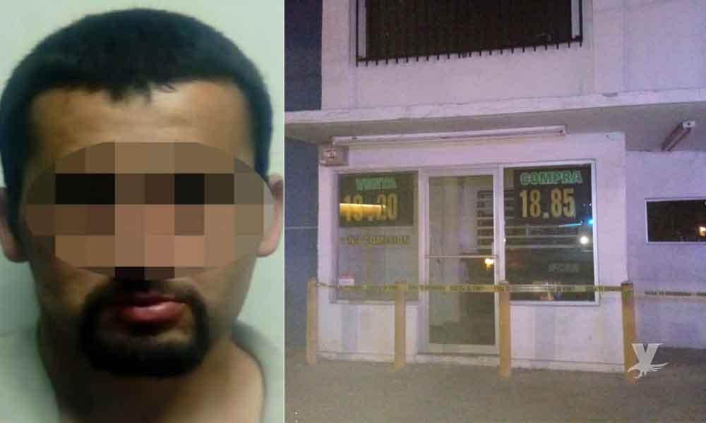 Frustran robo a casa de cambio en Tijuana; hay un detenido