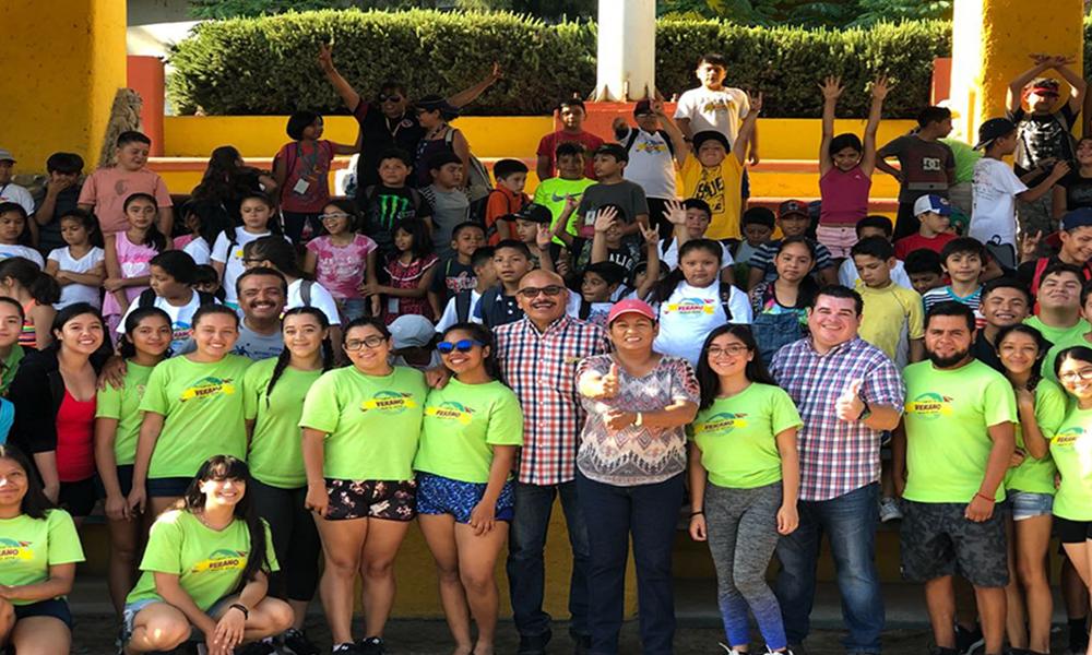 Gran diversión vivieron niños y niñas en la clausura del Curso de Verano IMDETE 2018