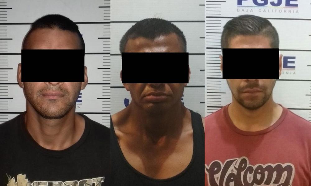 Ponen en prisión preventiva a tres sujetos por robo con violencia en Tijuana
