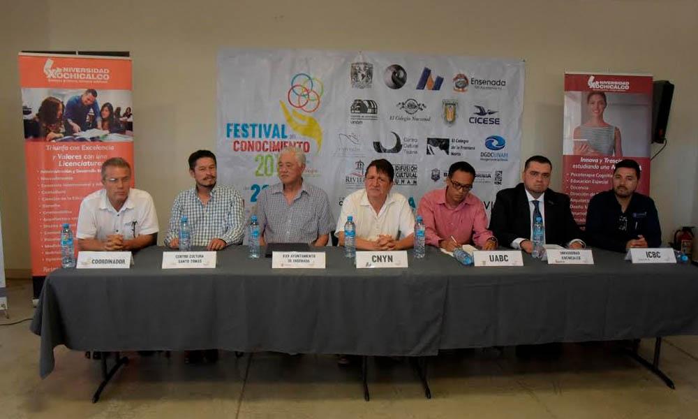 Anuncian 5to Festival del Conocimiento en Ensenada