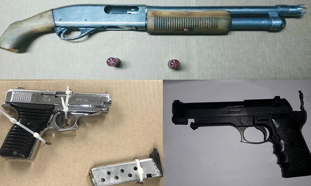 Arrestan a tres sujetos en diversos operativos en posesión de armas de fuego en Tijuana