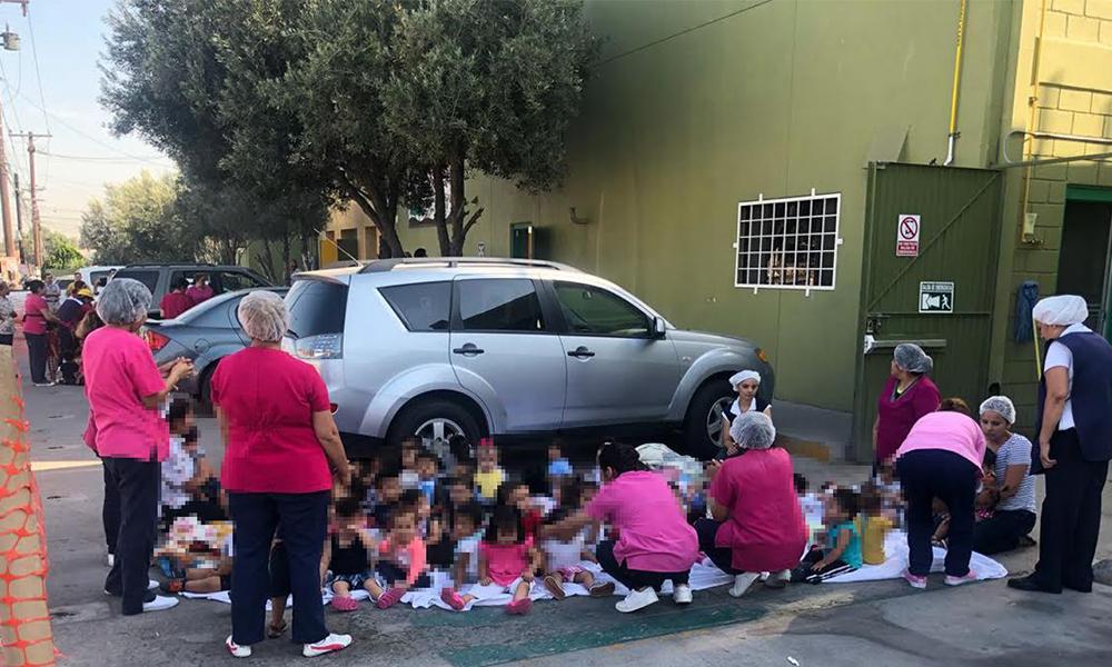 Auxilian Policía Municipal y Bomberos a menores de guardería en Tijuana