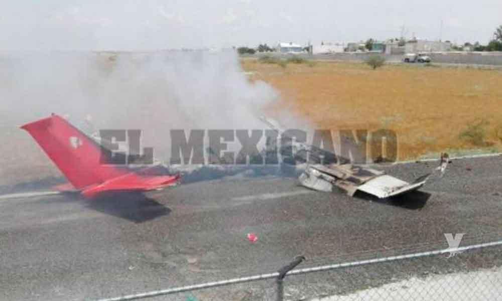 Avioneta se desploma en aeropuerto de la Ciudad Juárez