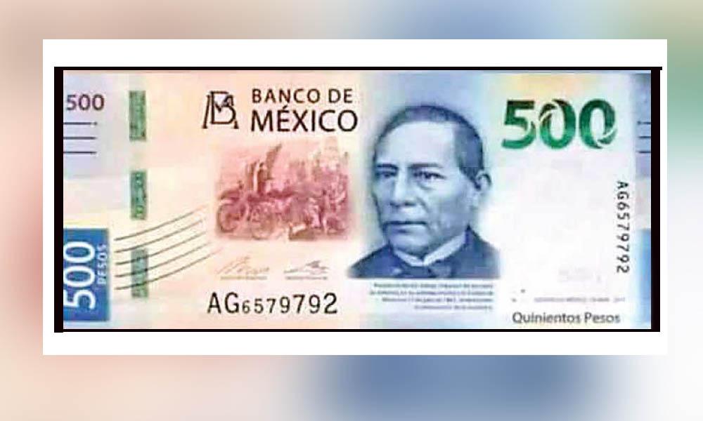 Circula en redes sociales la imagen del nuevo billete de 500 pesos