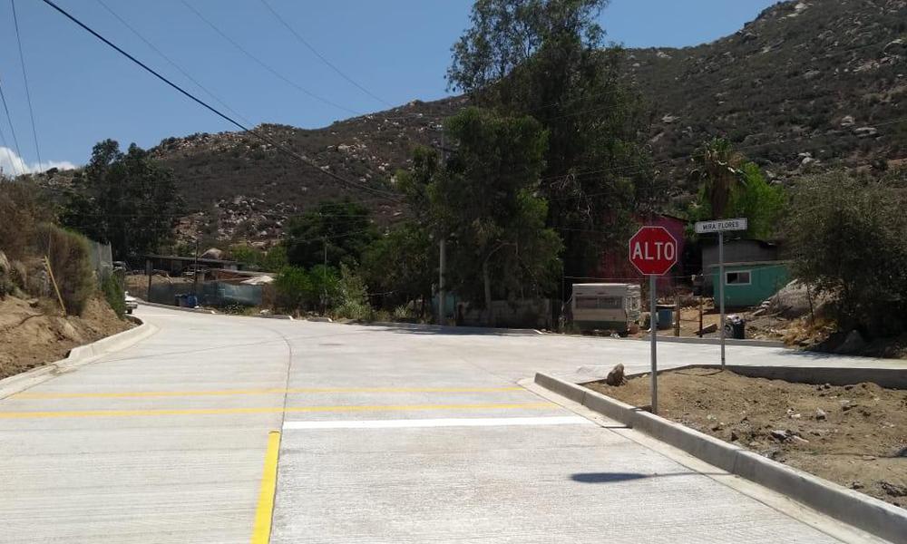 Concluyen obras de pavimentación y rehabilitación en Tecate
