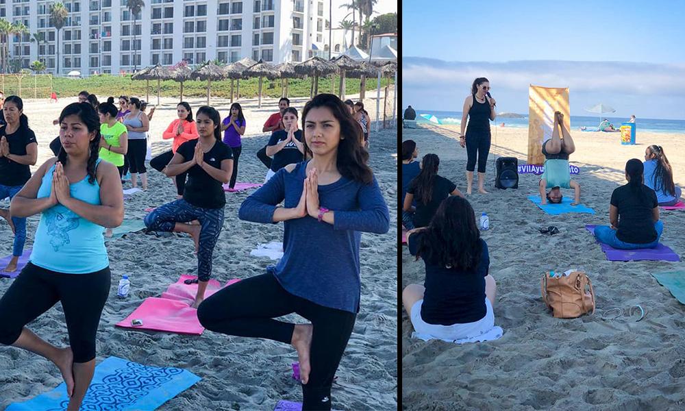 Conmemoran Día Internacional de la Juventud con clase de Yoga en Playas de Rosarito