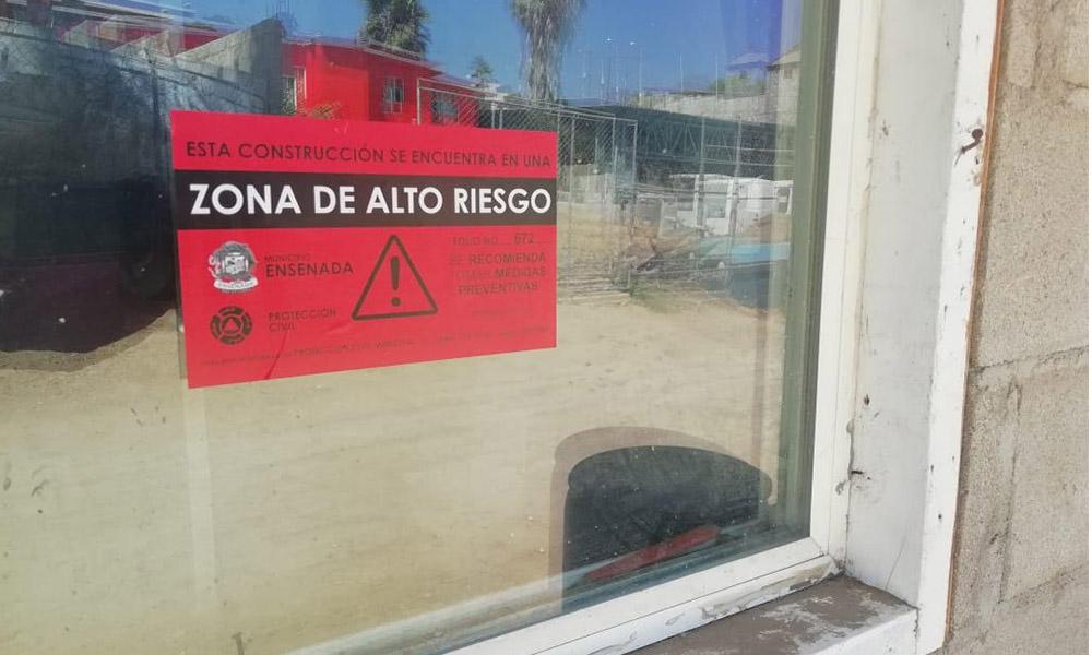 Continúa Protección Civil notificando zonas de alto riesgo en Ensenada