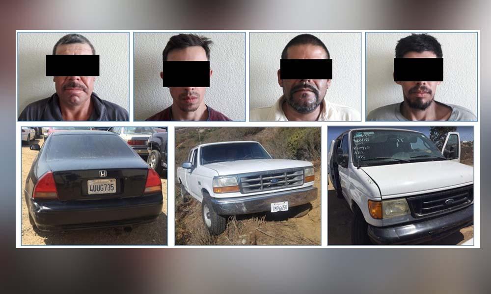 Cumplimenta 4 órdenes de aprehensión y recupera tres vehículos robados en Tecate