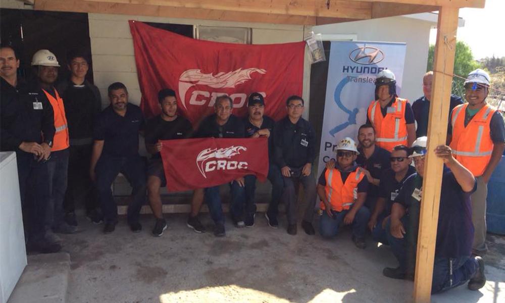 """Entrega sindicato """"México Moderno"""" de la CROC la séptima vivienda mejorada a un trabajador en Tijuana"""