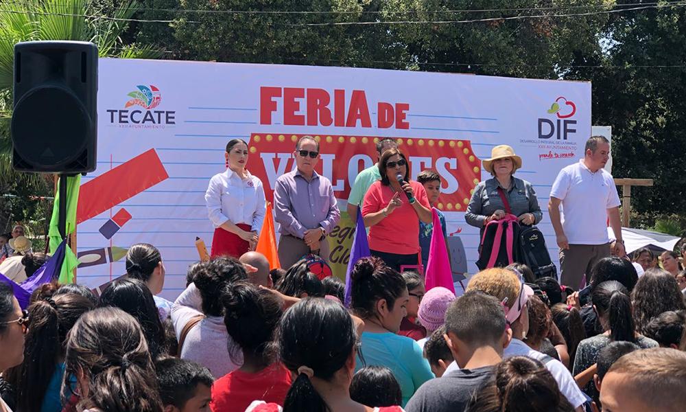 Feliz regreso a clases para la niñez gracias a la Feria de Valores de DIF Tecate