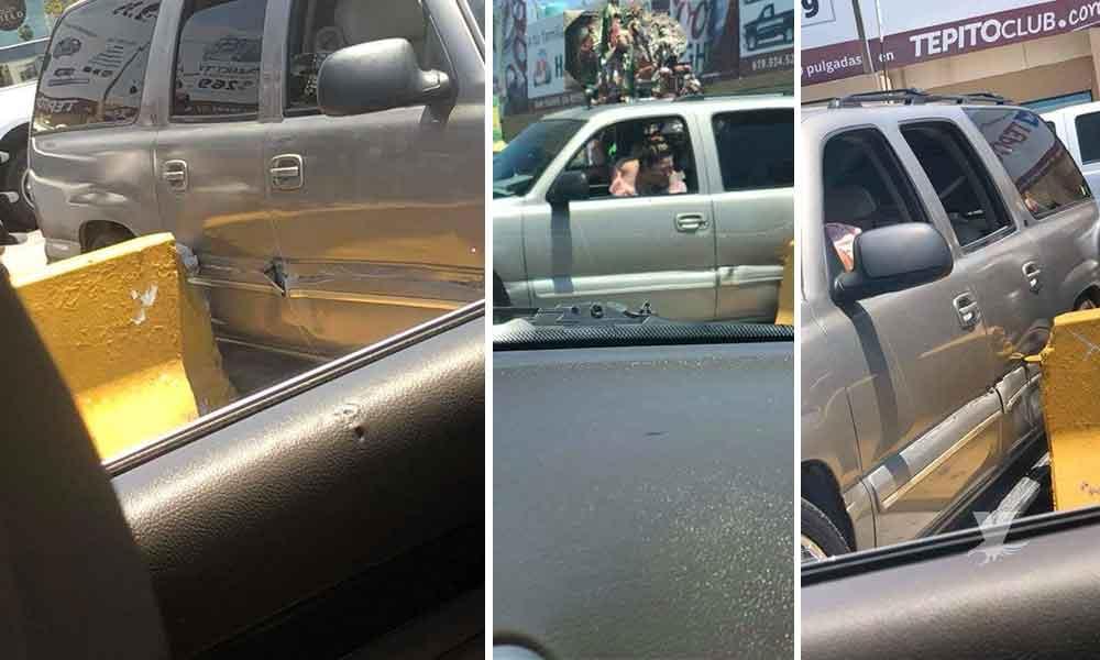 "(VIDEO) Mujer ""gaviotona"" queda atorada en la garita de Otay, Tijuana"
