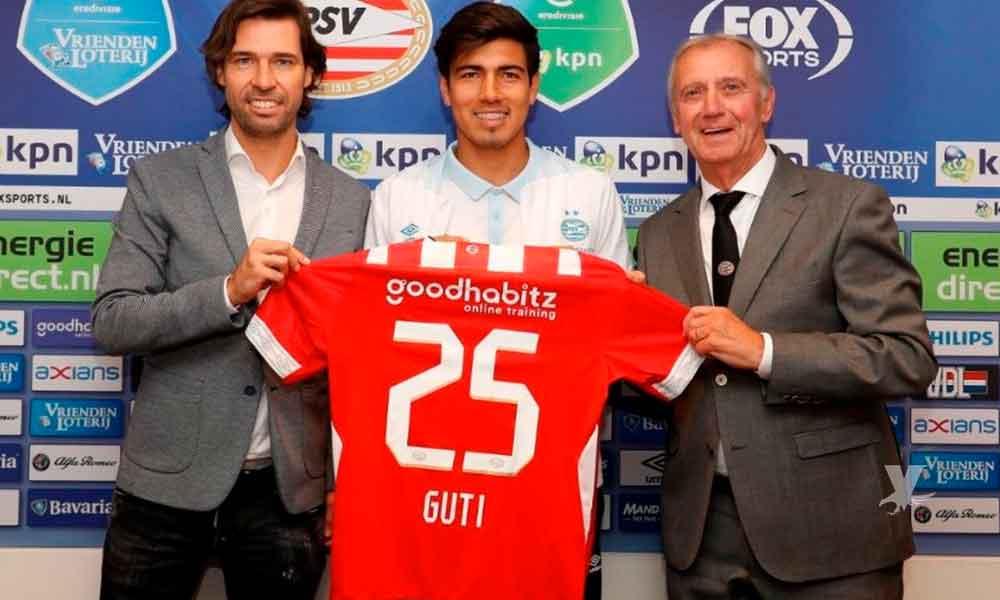 Erick Gutiérrez es presentado oficialmente con el PSV