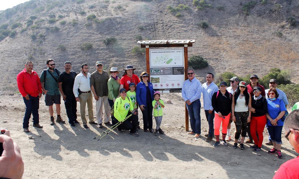Inauguran primer recorrido en Parque Metropolitano como sendero metropolitano en Playas de Rosarito