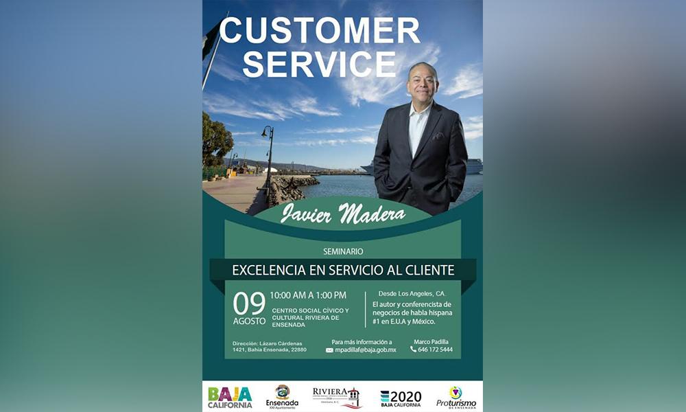 Invitan al seminario excelencia de servicio al cliente en Ensenada