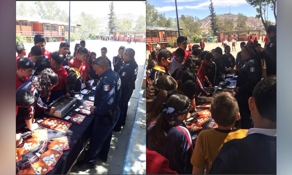 Llevan campaña de prevención en redes sociales y accidentes vehiculares en Tecate