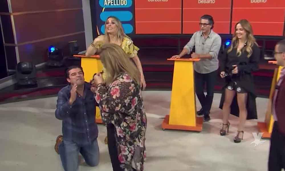 """(VIDEO) Productora de """"hoy"""" corre en pleno programa al Burro Van Rankin por faltarle al respeto"""