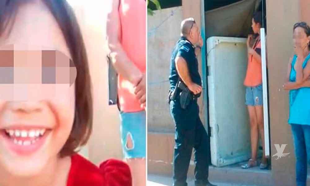 Policía Comercial de Tijuana ayuda a niña de 4 años que fue extraviada por su mamá