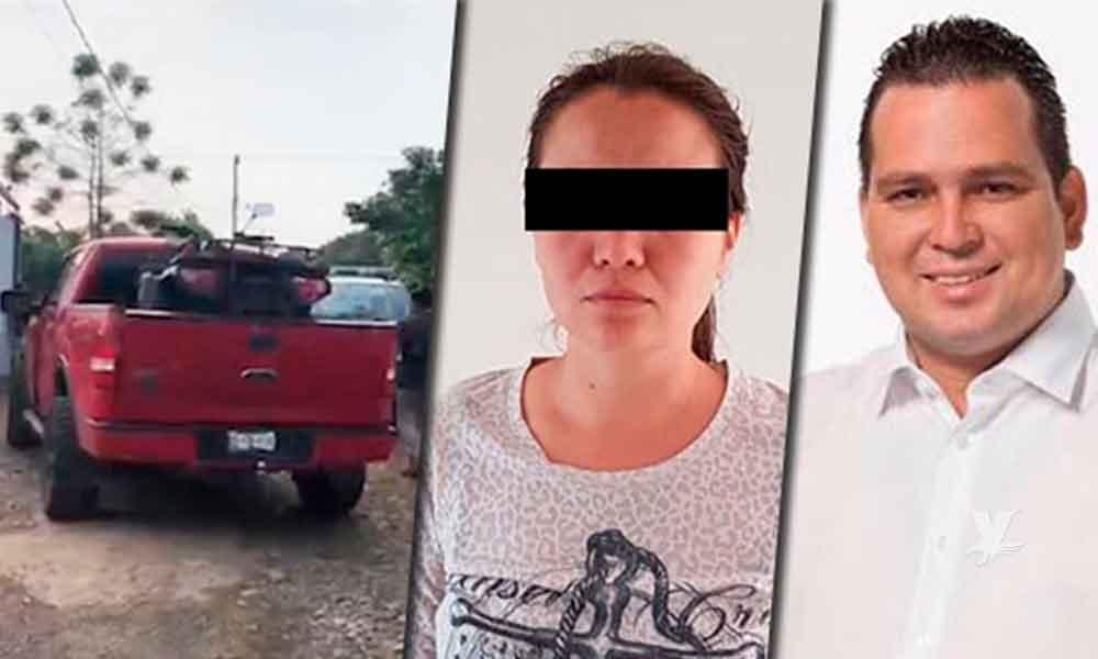 Detienen con armas y huachicol a esposa de alcalde en Puebla