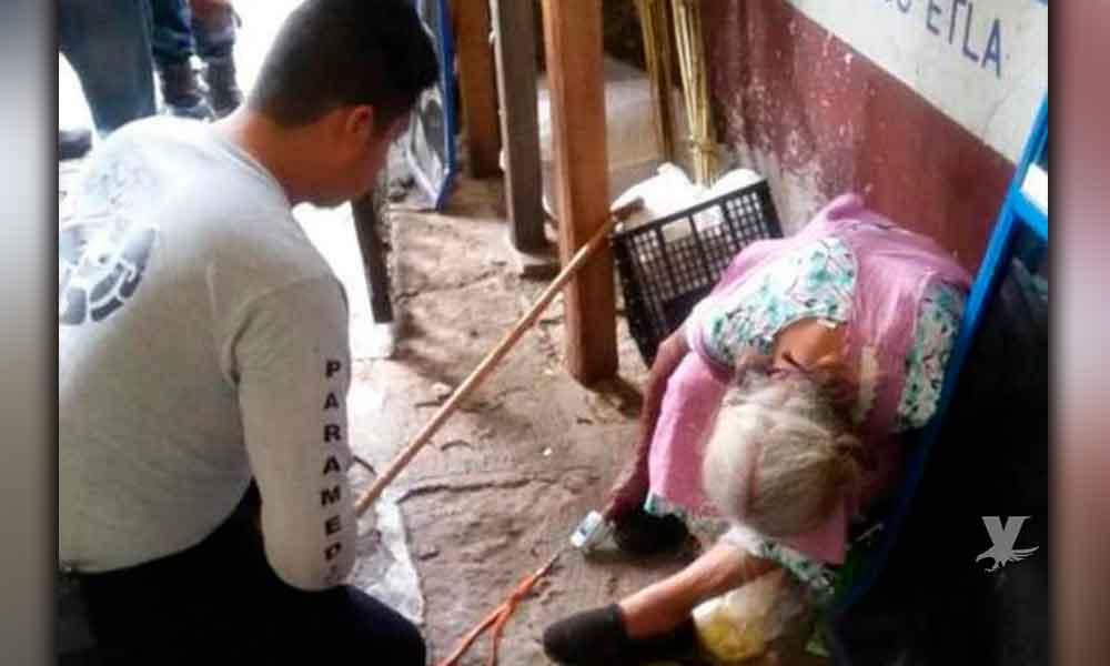 Mujer de 85 años muere en su lugar de trabajo