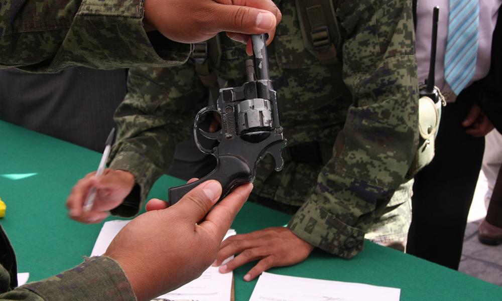 Pagará SEDENA hasta 9 mil pesos por canje de armas en Tecate