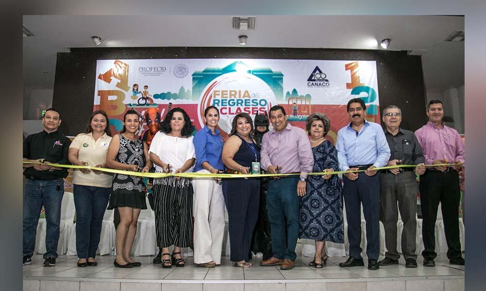 Participa SEE en la feria de regreso a clases organizada por CANACO y PROFECO en Mexicali