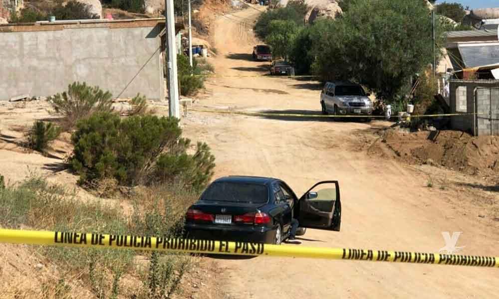 Balean y matan a tres personas en colonia Piedra Angular en Tecate