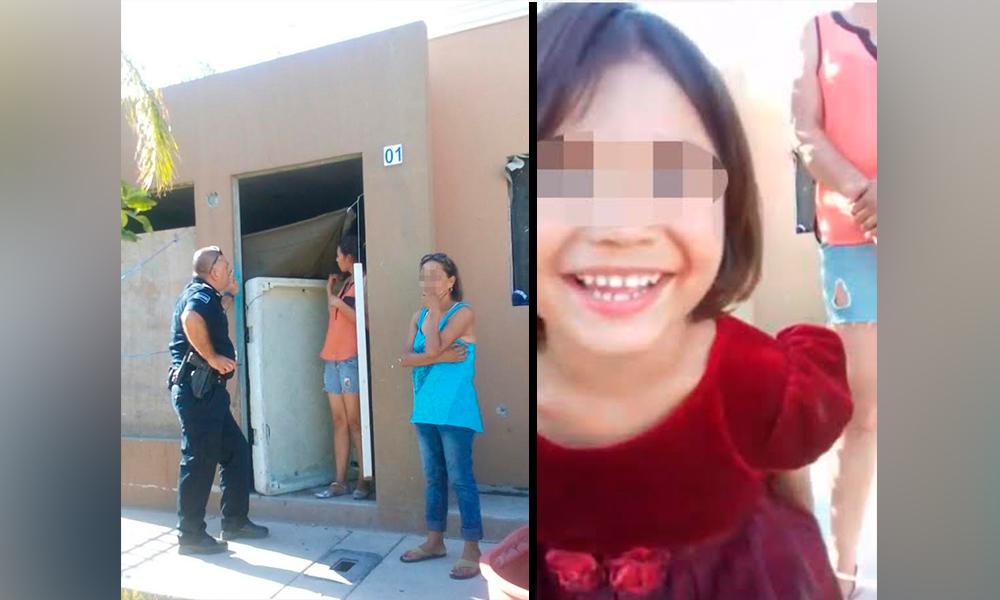 Auxilia Policía Comercial a menor de cuatro años extraviada en Tijuana