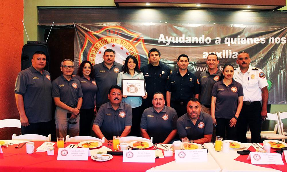 Realizan convivencia bomberos a capitanes en retiro de Tijuana