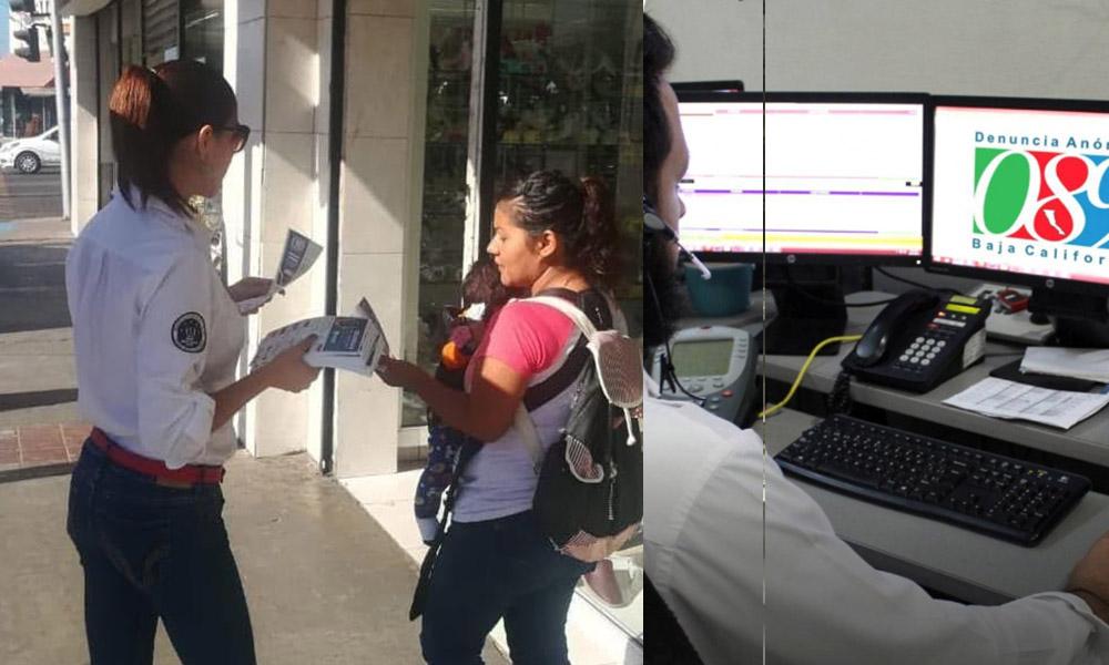 Refuerzan campaña informativa sobre denuncia anónima 089 en Ensenada