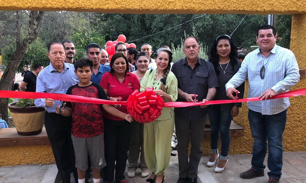 Reinaugura Alcaldesa Nereida Fuentes el Parque Infantil Teca Roca