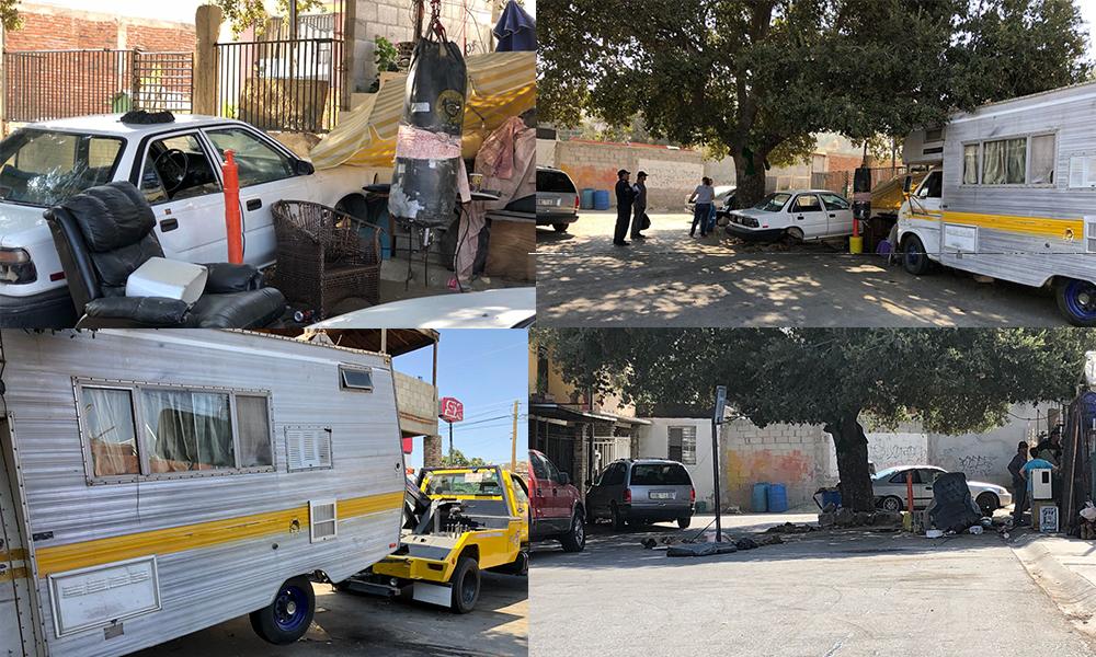 Remueven vehículos yonkeados en la vía pública de Tecate