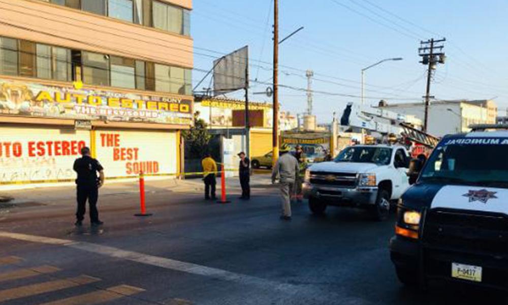 Sobrecarga provoca apagón y riesgo de explosión en Centro de Tijuana