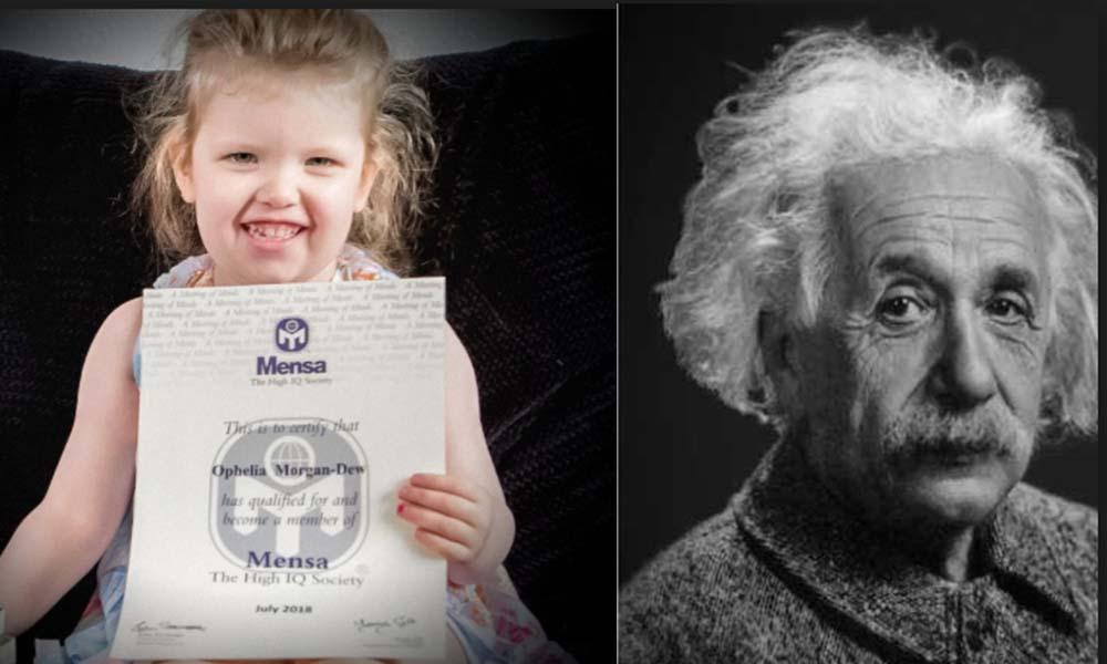 ¡Sorprendente! Niña de tres años tiene coeficiente superior al de Einstein