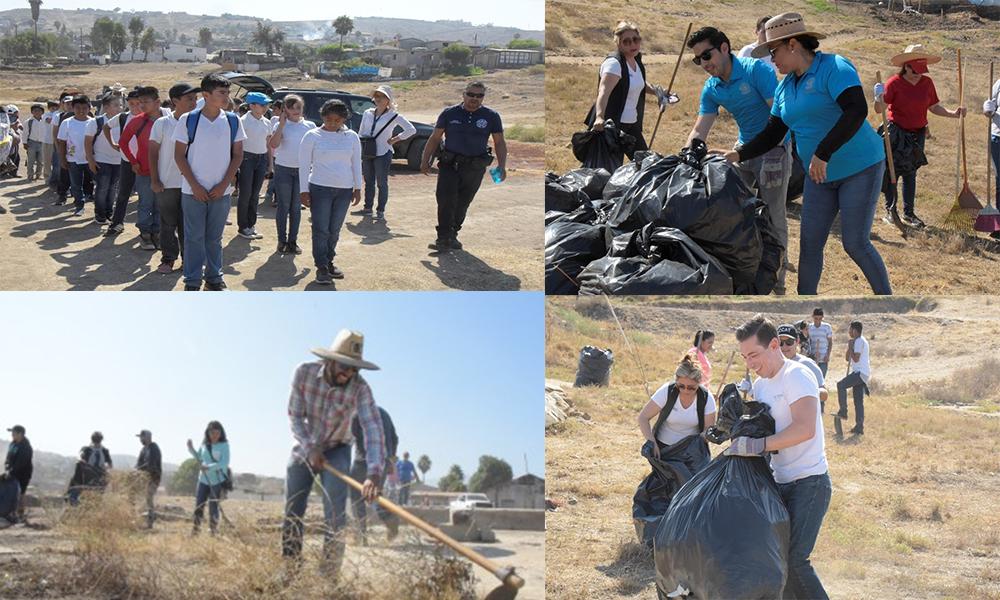 Suman esfuerzos XXII Ayuntamiento y Ciudadanía en limpieza de Maneadero