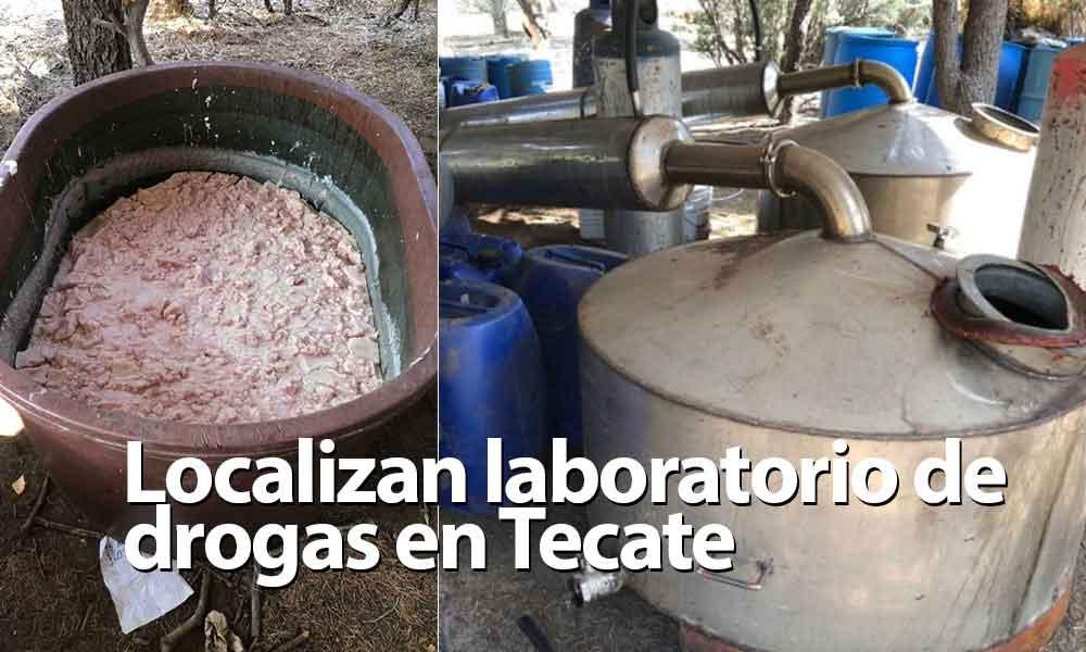 Localizan impresionante laboratorio de drogas en Tecate