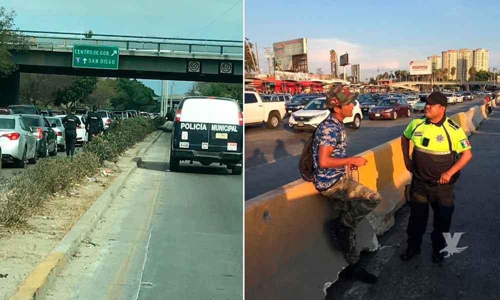 Más de 400 detenidos tras operativos policíacos en garita de Tijuana