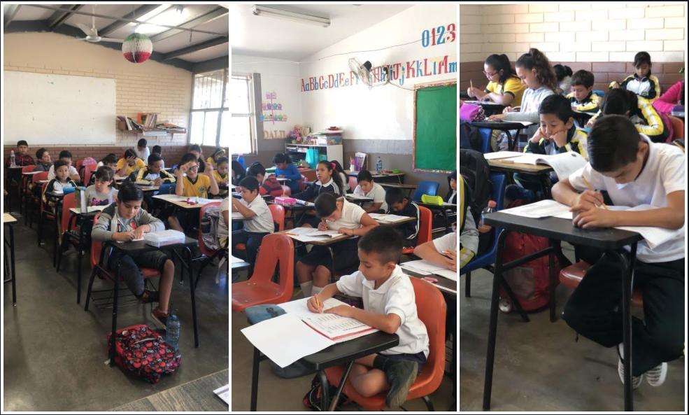 """Aplican evaluación """"PLANEA Diagnóstica"""" a alumnos de primaria en Tecate"""