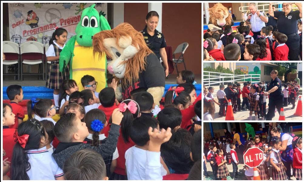 Arrancaron los Programas DARE y DINO en el Jardín de Niños Estefanía Castañeda de Tecate