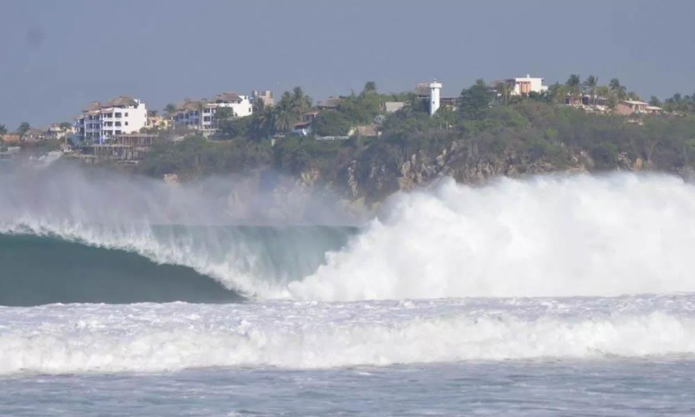 Alertan por mar de fondo en seis estados, con olas de hasta 3 metros de altura