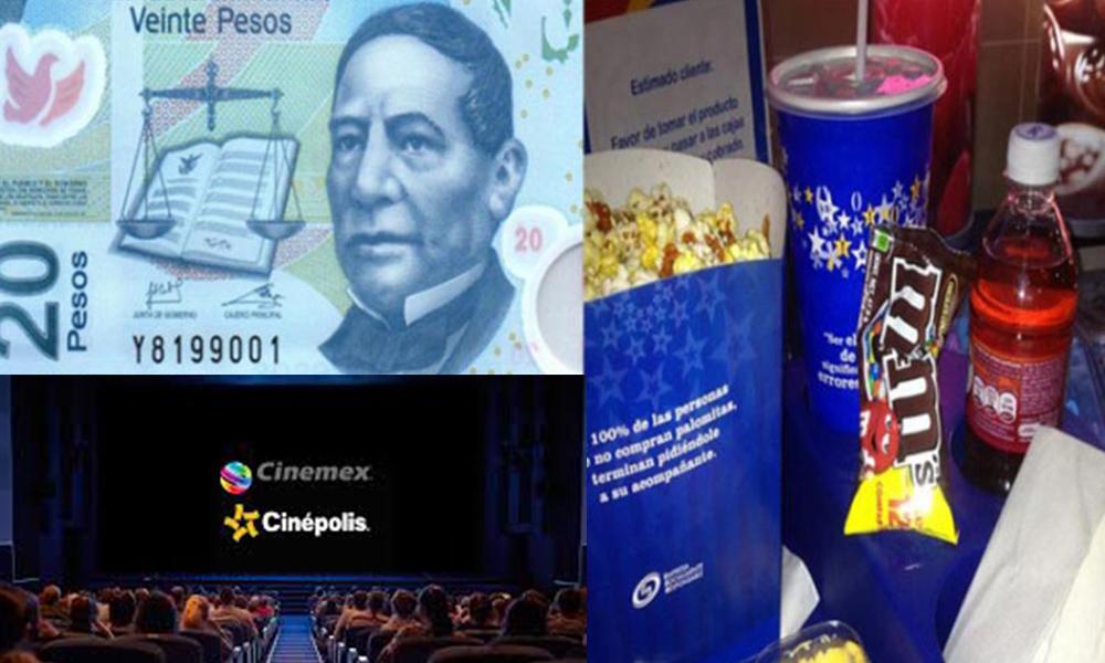 Cine costará 20 pesos durante una semana para celebrar el mes patrio
